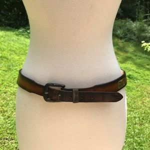 "Vintage Levi's Brown Leather Belt 32""-34"""
